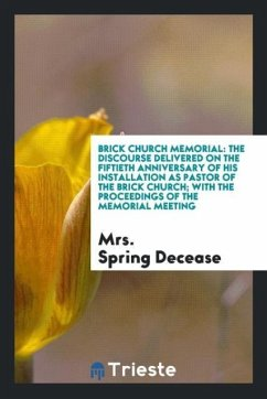 9780649382149 - Decease, Mrs. Spring: Brick church memorial - Book