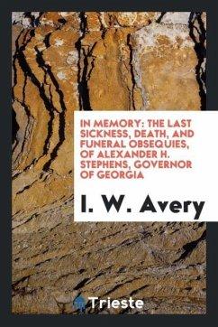 9780649363148 - Avery, I. W.: In Memory - كتاب