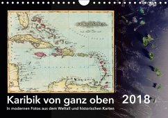 Karibik von ganz oben (Wandkalender 2018 DIN A4 quer)