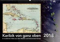 Karibik von ganz oben (Wandkalender 2018 DIN A2 quer)