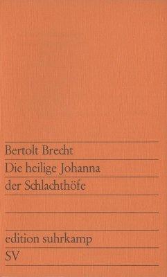 Die heilige Johanna der Schlachthöfe (eBook, ePUB) - Brecht, Bertolt