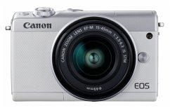 Canon EOS M100 Kit weiß + EF-M 15-45