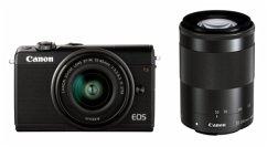 Canon EOS M100 Kit schwarz + EF-M 15-45 + EF-M 55-200