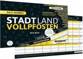 Denkriesen DEN09011 - Stadt Land Vollpfosten®, do it yourself Edition, DIN A4, Familienspiel
