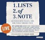 Lists of note - live, 2 Audio-CDs (Mängelexemplar)