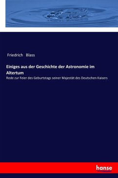 Einiges aus der Geschichte der Astronomie im Altertum