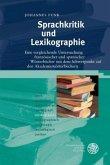 Sprachkritik und Lexikographie
