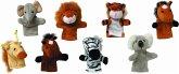 Goki 15125 - Fingerpuppen-Set Wilde Tiere, 8 Stück