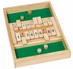 Goki 56897 - Doppelspiel Shut the box, Brettspiel,Würfelspiel