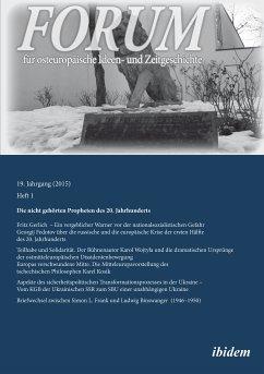 Forum für osteuropäische Ideen- und Zeitgeschichte (eBook, ePUB)