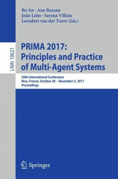 PRIMA 2017: Principles and Practice of Multi-Agent Systems