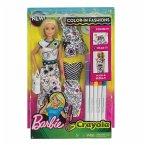 Barbie loves Crayola Farbspaß Mode Puppe