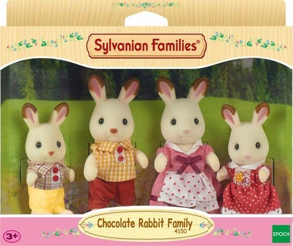 Sylvanian Families Schokoladenhasen Familie Löffel