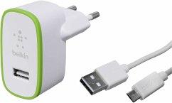 Belkin Netzladegerät 2,4 A weiß Univ. + 1,2 m USB 2.0 A/B Kabel