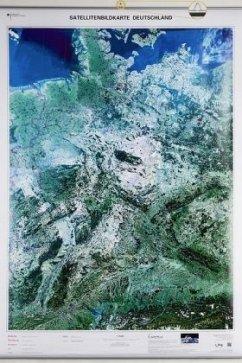Satellitenbildkarte Deutschland 1 : 750 000, Pl...