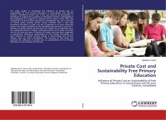 Private Cost and Sustainability Free Primary Ed...