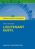 Lieutenant Gustl. Königs Erläuterungen. (eBook, ePUB)