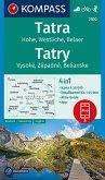 KOMPASS Wanderkarte Tatra, Hohe, Westliche, Belaer, Tatry, Vysoké, Západné, Belianske