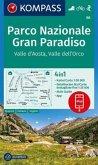 Kompass Karte Parco Nazionale Gran Paradiso - Valle d'Aosta - Valle dell'Orco