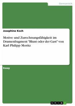 """Motive und Zurechnungsfähigkeit im Dramenfragment """"Blunt oder der Gast"""" von Karl Philipp Moritz"""