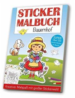 Stickermalbuch: Bauernhof