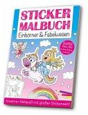 Stickermalbuch: Einhörner & Fabelwesen