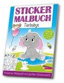 Stickermalbuch: Tierbabys