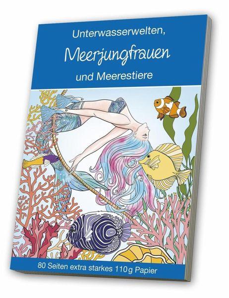 malbuch für erwachsene  meerjungfrauen  meerestiere