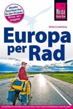 Reise Know-How Reiseführer Fahrradführer Europa per Rad - Lindenberg, Herbert