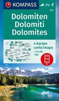 Kompass Karte Dolomiten - Dolomites - Dolomiti,...