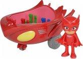 Simba 109402086 - PJ Masks Eulette mit Eulengleiter, Spielfiguren Set, bunt