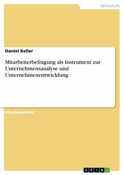 Mitarbeiterbefragung als Instrument zur Unternehmensanalyse und Unternehmenentwicklung (eBook, PDF)