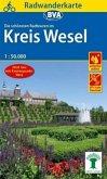 BVA Radwanderkarte Radwandern im Kreis Wesel am Niederrhein