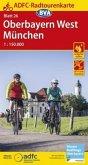 ADFC-Radtourenkarte 26 Oberbayern West / München 1:150.000, reiß- und wetterfest, GPS-Tracks Download