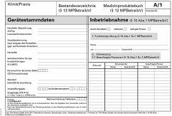Medizinproduktebuch - Bestandsverzeichnis