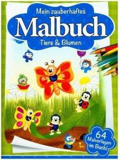 Malbuch Tiere & Blumen