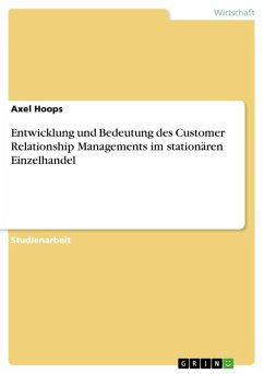 Entwicklung und Bedeutung des Customer Relationship Managements im stationären Einzelhandel (eBook, PDF)