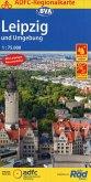 ADFC-Regionalkarte Leipzig und Umgebung / Leipziger Neuseenland, 1:75.000, reiß- und wetterfest, mit GPS-Track Download