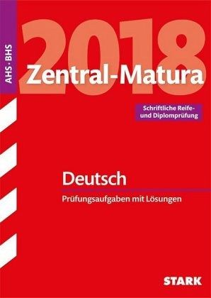 Zentral Matura 2018 österreich Deutsch Schulbücher Portofrei Bei