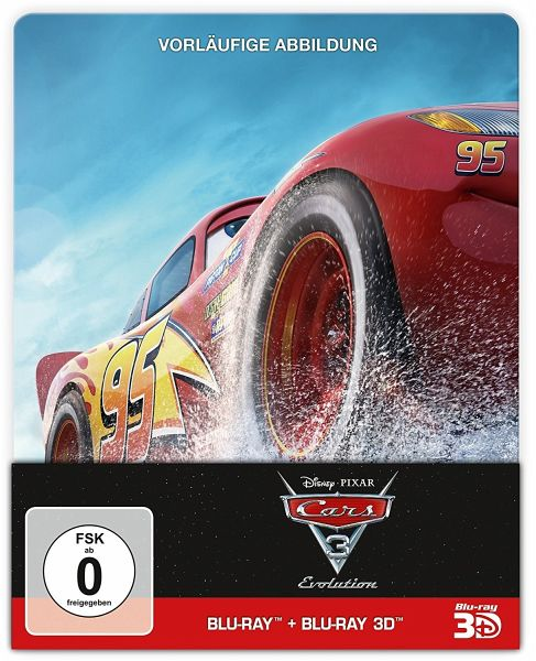 Cars 3: Evolution (Blu-ray 3D + Blu-ray + DVD, Steelbook)