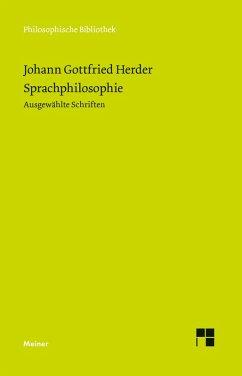 Sprachphilosophie (eBook, PDF) - Herder, Johann Gottfried
