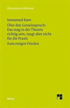 Über den Gemeinspruch: (eBook, PDF) - Kant, Immanuel