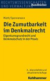 Die Zumutbarkeit im Denkmalrecht (eBook, PDF)