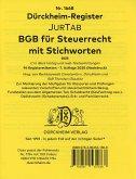 Dürckheim-Register BGB im Steuerrecht mit Stichworten