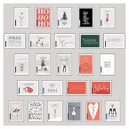 25 handgemachte Weihnachtskarten Teil 1