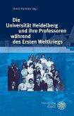 Die Universität Heidelberg und ihre Professoren während des Ersten Weltkriegs (eBook, PDF)
