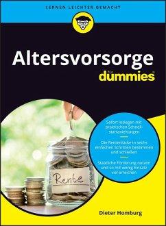Altersvorsorge für Dummies (eBook, ePUB) - Homburg, Dieter