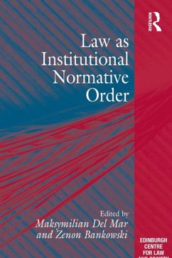 Law as Institutional Normative Order (eBook, PDF)