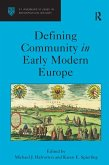 Defining Community in Early Modern Europe (eBook, PDF)