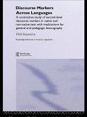 Discourse Markers Across Languages (eBook, ePUB)